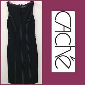 Cache Contour Collection Black White Dress Sz. 4